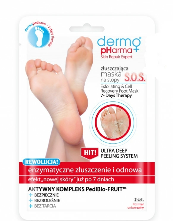 Mască-peeling pentru picioare - Dermo Pharma Skin Repair Expert S.O.S. Exfoliating & Cell Recovery Foot Mask