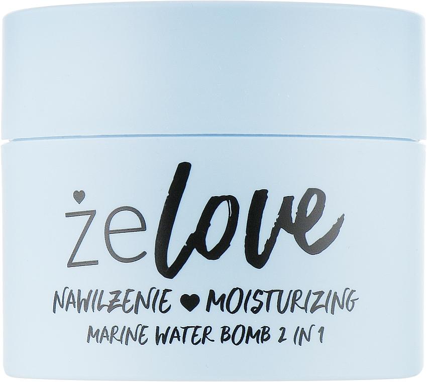 Gel hidratant pentru față, gât și decolteu - FlosLek ZeLove Moisturizing Marine Water Bomb 2in1