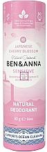 "Parfumuri și produse cosmetice Deodorant ""Sakura japoneză"" (carton) - Ben&Anna Natural Natural Deodorant Sensitive Japanese Blossom"