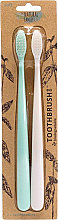 Parfumuri și produse cosmetice Set - The Natural Family Co Bio Brush Rivermint & Ivory Desert (toothbrush/1pcs + toothbrush/1pcs) (2bucăți)