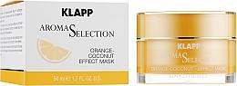 """Parfumuri și produse cosmetice Mască de față """"Portocală-Cocos"""" - Klapp Aroma Selection Orange-Coconut Mask"""