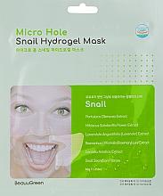 Parfumuri și produse cosmetice Mască cu mucină de melc pentru față - Beauugreen Microhole Snail Perfect Hydrogel Mask