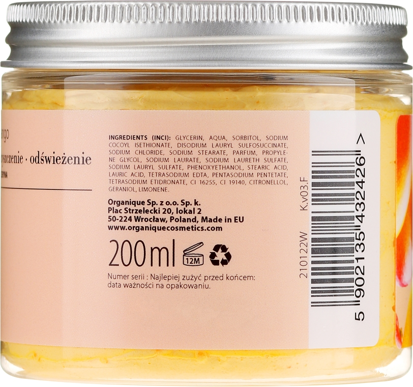 "Spumă-mousse de corp ""Mango"" - Organique Cleansing Ritual Creamy Whip Mango — Imagine N4"