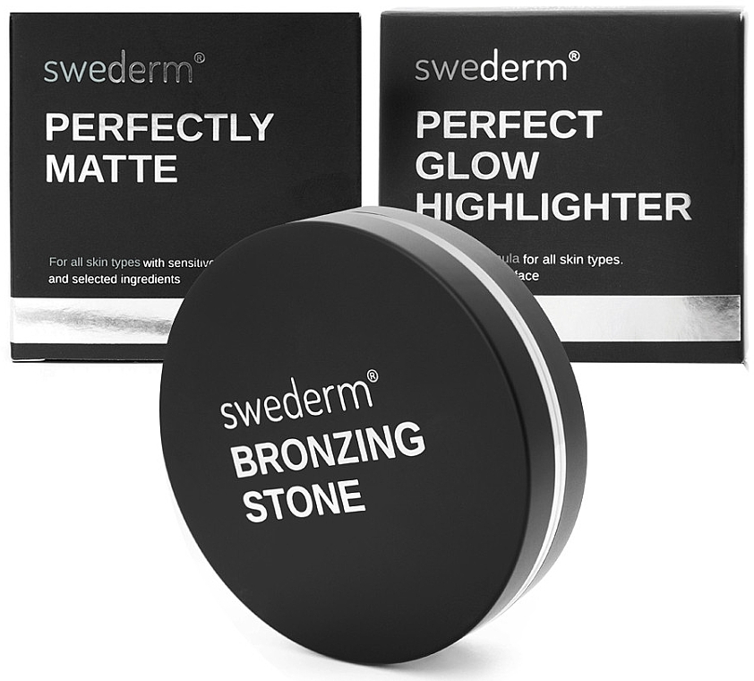 Set - Swederm (bronzer/13g + powder/9g + highlighter/9g) — Imagine N1