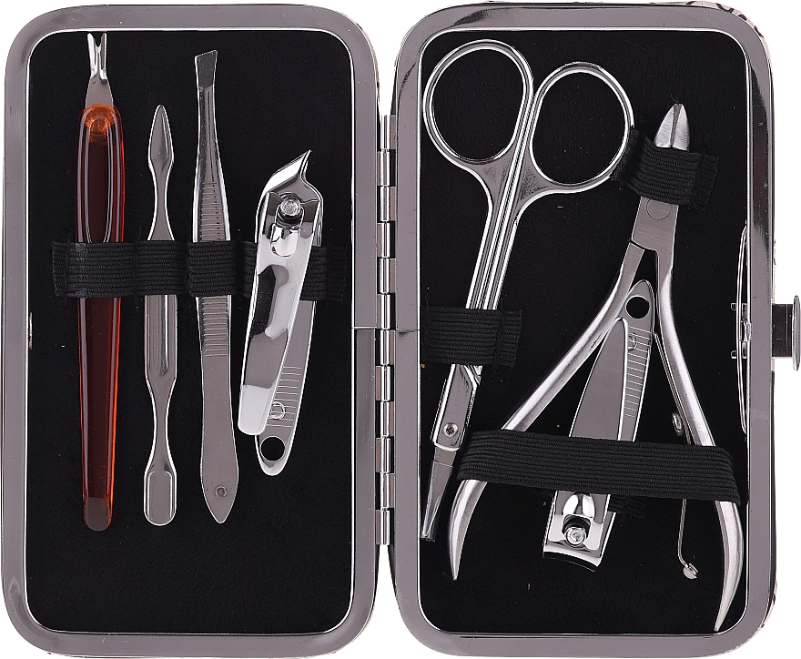 Set manichiură 2427, 7 instrumente, design - Donegal Manicure Set Holo — Imagine N2
