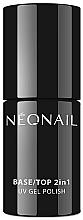 Parfumuri și produse cosmetice Bază și top coat 2 în 1 pentru lac-gel - NeoNail Professional Base/Top 2in1 UV Gel Polish