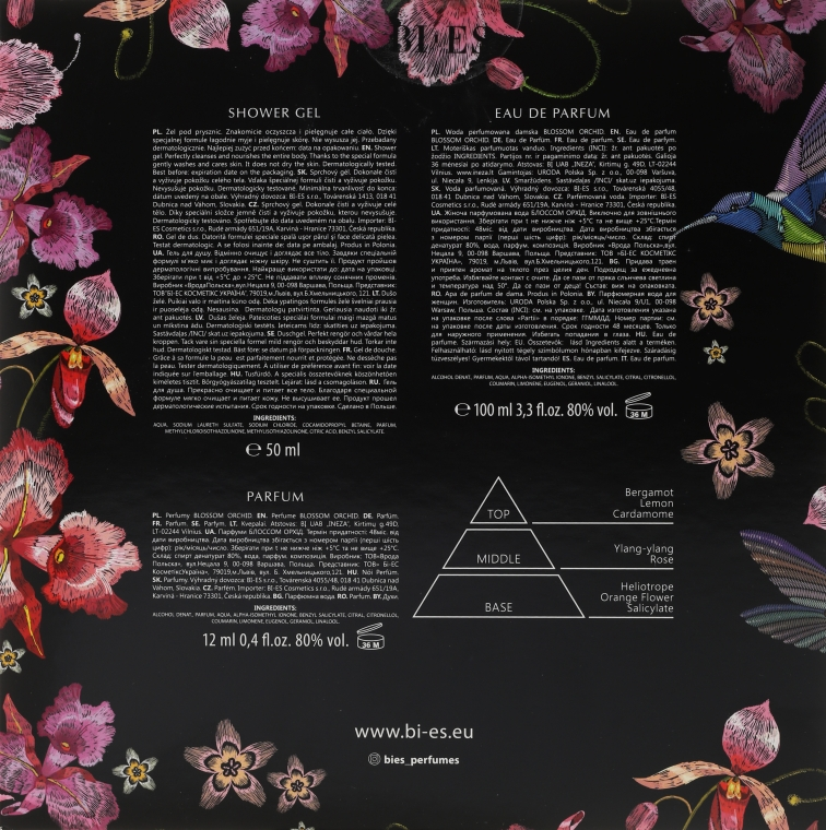 Bi-Es Blossom Orchid - Set (edp/100ml + sg/gel/50ml + parfum/12ml) — Imagine N2