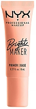 Parfumuri și produse cosmetice Primer iluminant pentru față - NYX Professional Bright Maker Brightening Primer (mini)