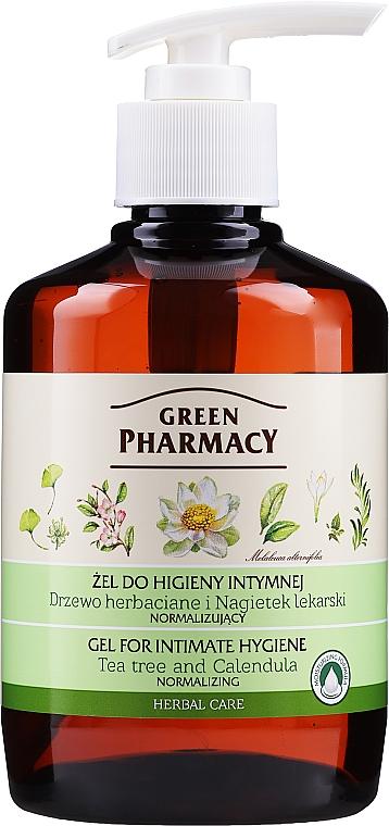 Gel cu extract de gălbenele si arbore de ceai pentru igiena intimă - Green Pharmacy