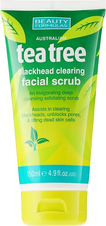 """Scrub pentru față împotriva acneei """"Arbore de ceai"""" - Beauty Formulas Tea Tree Facial Scrub"""