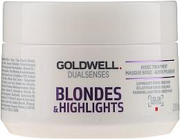 Parfumuri și produse cosmetice Mască nutritivă pentru părul blond sau decolorat - Goldwell Dualsenses Blondes & Highlights 60sec Treatment