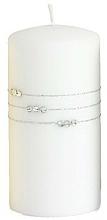 Parfumuri și produse cosmetice Lumânare decorativă, albă, 10x7 cm - Artman Candle Kolia