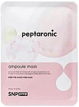 Parfumuri și produse cosmetice Mască hidratantă cu peptide, din țesut, pentru față - SNP Prep Peptaronic Ampoule Mask
