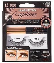 Parfumuri și produse cosmetice Gene false cu magneți - Kiss Magnetic Eyeliner & Lash Kit KMEK07 Charm