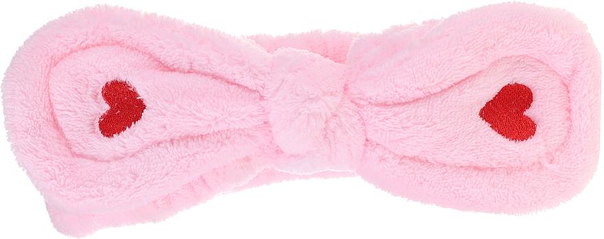 Bentiță cosmetică pentru păr, roz - Lash Brow Cosmetic SPA Band