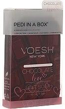 """Parfumuri și produse cosmetice Set pentru pedichiură """"Iubire de ciocolată"""" - Voesh Deluxe Pedicure Chocolate Love Pedi In A Box 4 in 1"""