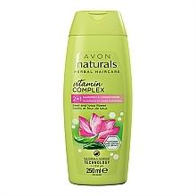 """Parfumuri și produse cosmetice Șampon-balsam 2 în 1 """"Lotus floare și busuioc"""" - Avon Naturals Hair Care Shampoo"""
