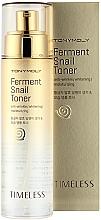 Parfumuri și produse cosmetice Toner cu extract de mucină fermentată de melc - Tony Moly Timeless Ferment Snail Toner