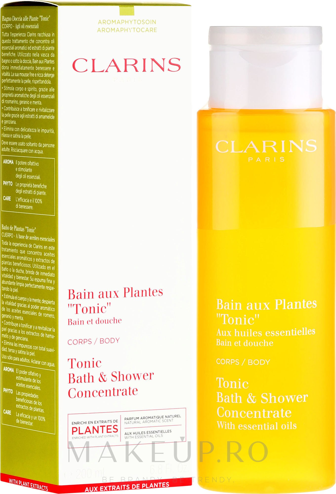 Spuma de baie - Clarins Tonic Bath & Shower Concentrate — Imagine 200 ml