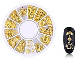 Parfumuri și produse cosmetice Strasuri pentru unghii, Gold-4 - Deni Carte