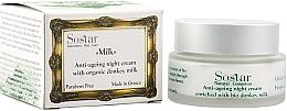 Parfumuri și produse cosmetice Cremă regenerantă de noapte pentru față - Sostar Anti-Aging Night Cream Enriched With Bio Donkey Milk