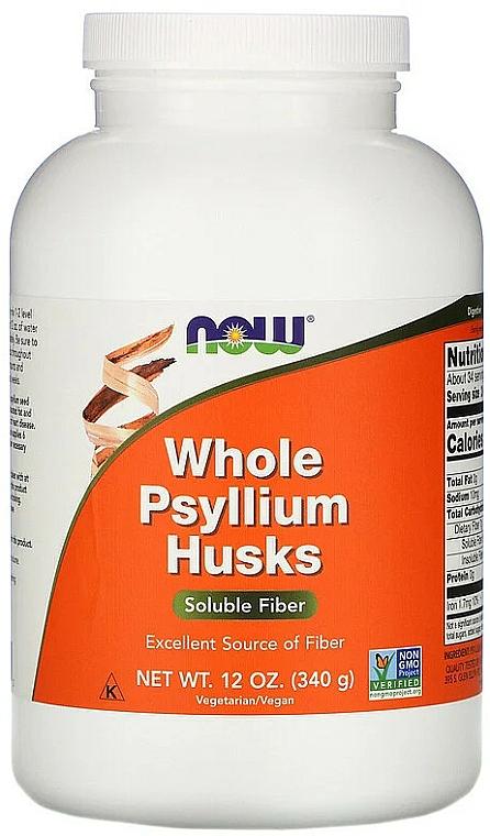 Coaja întreagă de semințe de pătlagină, praf - Now Foods Whole Psyllium Husks Powder