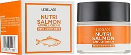 Parfumuri și produse cosmetice Cremă hrănitoare cu ulei de somon - Lebelage Ampule Cream Nutri Salmon