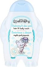 """Parfumuri și produse cosmetice Șampon-gel de duș pentru copii """"Afine și Aloe Vera"""" - Bluxcosmetics Naturaphy Hair & Body Wash"""