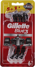 Parfumuri și produse cosmetice Set aparate de ras de unică folosință, 5+1 bucăți - Gillette Blue III Red and White