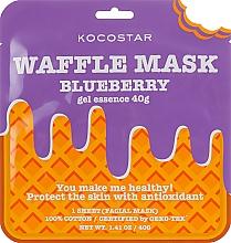 """Parfumuri și produse cosmetice Mască de țesut """"Afine"""" - Kocostar Blueberry Waffle Mask"""
