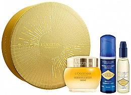 Parfumuri și produse cosmetice Set - L'Occitane Divine Immortelle (f/cr/50ml + cl/foam/50 ml + cl/oil/30ml)