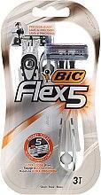 Parfumuri și produse cosmetice Aparat de ras de unică folosință - Bic Flex 5 Dispo