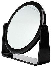 Parfumuri și produse cosmetice Oglindă cosmetică, dublă, 85055, neagră - Top Choice