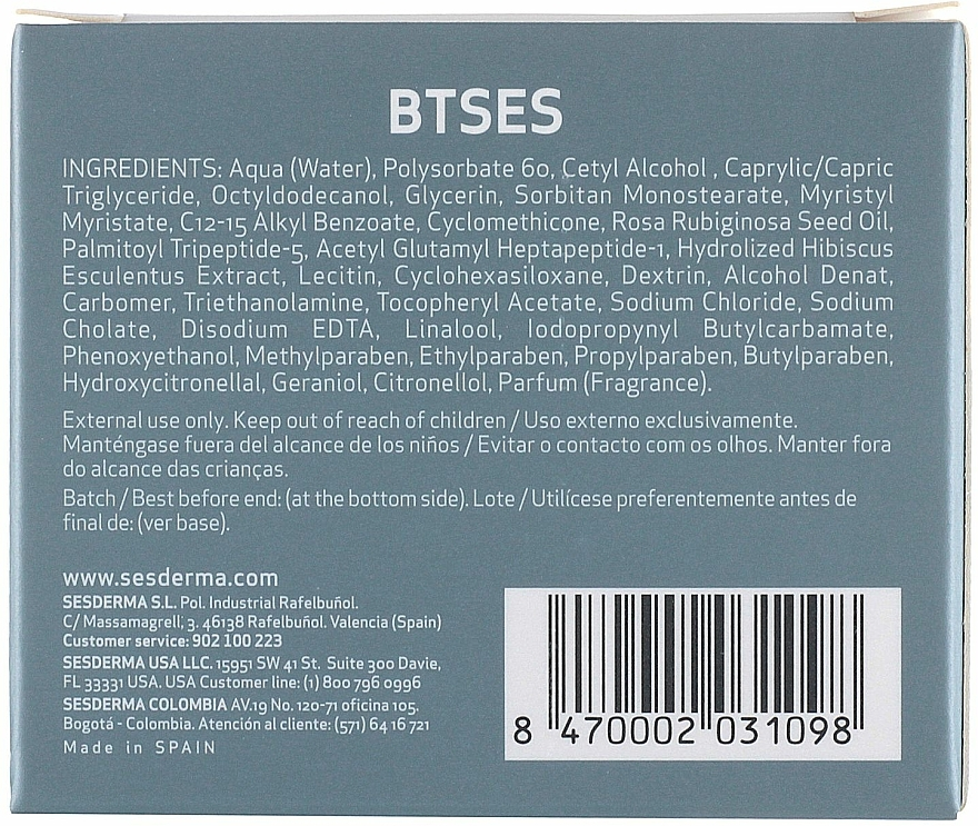 Cremă hidratantă împotriva ridurilor - SesDerma Laboratories BTSeS Anti-wrinkle Cream — Imagine N4