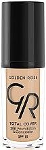 Parfumuri și produse cosmetice Fond de ten corector - Golden Rose Total Cover 2in1 Foundation & Concealer