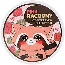 Parfumuri și produse cosmetice Patch-uri hydrogel sub ochi și scule - Secret Key Pink Racoony Hydro-Gel Eye & Cheek Patch