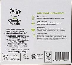 Șervețele uscate din bambus, 56 bucăți - Cheeky Panda Bamboo Facial Tissue Cube — Imagine N2