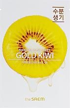 Parfumuri și produse cosmetice Mască din țesătură cu extract de kiwi pentru față - The Saem Natural Gold Kiwi Mask Sheet