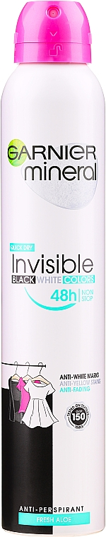 "Deodorant spray ""Protecție împotriva petelor"" - Garnier Mineral Deodorant Invisible"