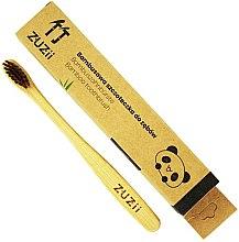 Parfumuri și produse cosmetice Periuță de dinți pentru copii, maro, moale - Zuzii Kids Soft Toothbrush