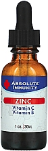 "Parfumuri și produse cosmetice Supliment alimentar ""Immunity Zinc"" - Absolute Nutrition Immunity Zinc With Vitamin C & Vitamin B"