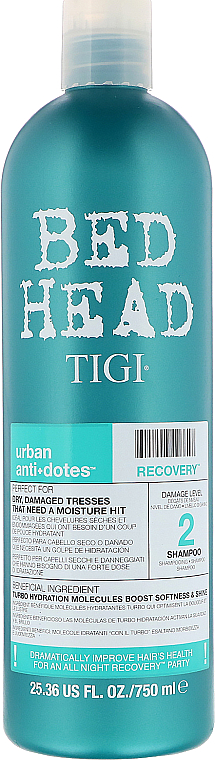 Șampon hidratant pentru păr uscat și deteriorat - Tigi Bed Head Urban Anti+Dotes Recovery Shampoo — Imagine N3