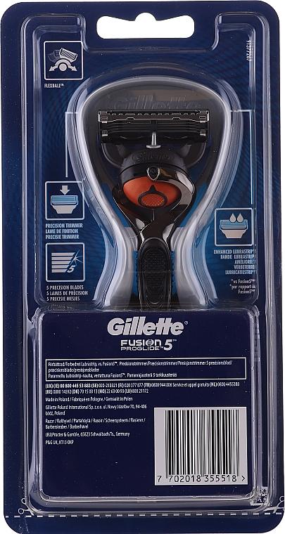 Aparat de ras cu o casetă interschimbabilă - Gillette Fusion ProGlide Flexball — Imagine N2
