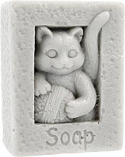 "Parfumuri și produse cosmetice Săpun natural ""Pisica cu ghem"", gri - LaQ Happy Soaps"