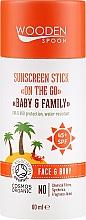 Parfumuri și produse cosmetice Stick de protecție solară - Wooden Spoon Sunscreen Stick On The Go SPF 45