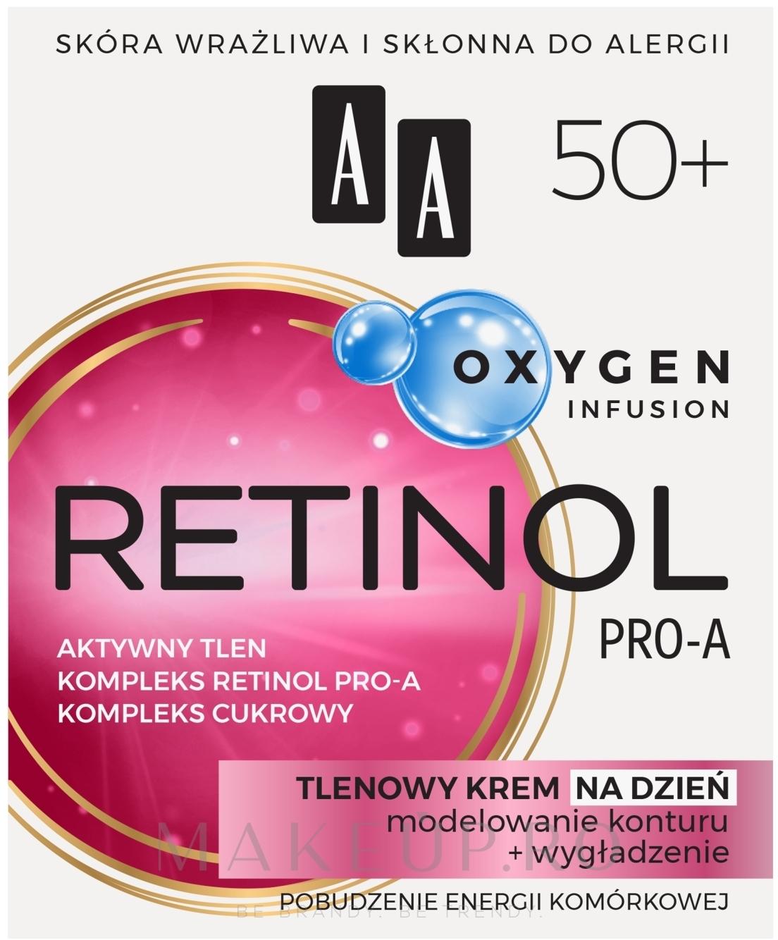 Cremă oxidantă pentru față 50+ - AA Oxygen Infusion Retinol Pro-A Day Cream — Imagine 50 ml