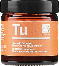 Cremă regenerantă de noapte pentru față - Dr. Botanicals Turmeric Superfood Restoring Night Moisturiser — Imagine N2