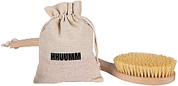 Parfumuri și produse cosmetice Perie de masaj corporal, cu fibră tampico, dublă curbată - Hhuumm № 6