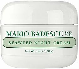 Parfumuri și produse cosmetice Cremă de noapte cu extracte de alge marine - Mario Badescu Seaweed Night Cream