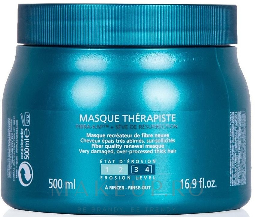 Mască reparatoare pentru păr deteriorat - Kerastase Resistance Therapist Renewal Mask — Imagine 500 ml